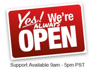 We´re Open